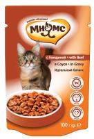 Мнямс Паучи с говядиной в соусе для кошек
