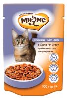 Мнямс Паучи с ягненком в соусе для кошек