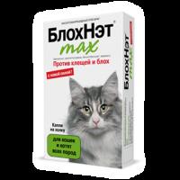 БлохНэт max – капли на холку от блох и клещей для кошек