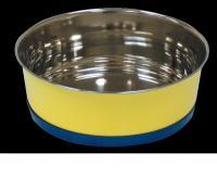 Миска металлическая на резиновом кольце для собак и кошек 2,7 л.