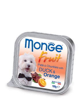 Monge PATE & CHUNKIES with Duck & Orange Монж Нежный паштет из утки с апельсином