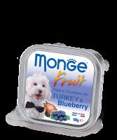 Monge PATE & CHUNKIES with TURKEY & BLUEBERRY Монж Нежный паштет из индейки с черникой