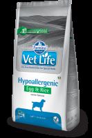 Farmina Vet Life Фармина Вет Лайф HYPOALLERGENIC EGG & RICE Canine Диета для собак при пищевой аллергии