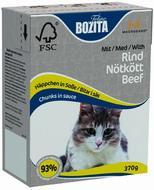 BOZITA Feline Beef, Корм влажный мясные кусочки в соусе c Говядиной для кошек и котят