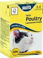 BOZITA MINI with Poultry, Корм влажный мясные кусочки в желе с домашней птицей для кошек и котят