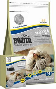 BOZITA Feline Indoor & Sterilised Для взрослых и пожилых кошек, кастрированных котов и стерилизованных кошек