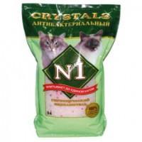 №1 Силикагелевый наполнитель антибактериальный, 5л: Зеленый (Crystals)