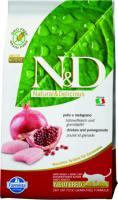 FarminaN&D Cat Chicken & Pomegranate Neutered Фармина беззерновой сухой корм для взрослых стерилизованных кошек и кастрированных котов, курица гранат