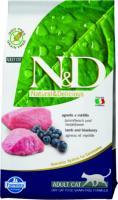 Farmina N&D Cat Lamb & Blueberry Adult Фармина беззерновой сухой корм для взрослых кошек, ягненок, черника