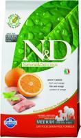 Farmina N&D Fish & Orange Adult Фармина Полнорационный корм для взрослых собак мелких пород, рыба, апельсин