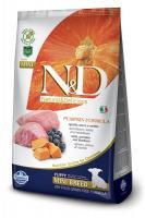 N&D Dog GF Pumpkin Lamb & Blueberry Puppy Mini Полнорационный корм для щенков мелких пород ягненок, тыква, черника