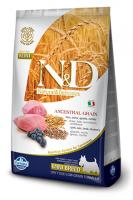 Farmina N&D Low Grain Lamb & Blueberry Adult Фармина Полнорационный низкозерновой корм для взрослых собак мелких пород ягненок, черника