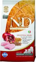 Farmina N&D Low Grain Chicken & Pomegranate Puppy Фармина Паппи Полнорационный низкозерновой корм для щенков, беременных и кормящих курица, гранат