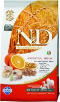 Farmina N&D Low Grain Codfish & Orange Adult Фармина Полнорационный низкозерновой корм для взрослых собак рыба, апельсин