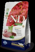 Farmina N&D Cat Quinoa Digestion Lamb Фармина Ягненок, киноа, фенхель и мята. Полнорационный сухой корм для взрослых кошек
