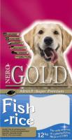 Nero Gold Fish&Rice Неро Голд Сухой корм для взрослых собак: рыбный коктейль, рис и овощи