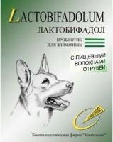 Лактобифадол с пищевыми волокнами отрубей для собак и кошек