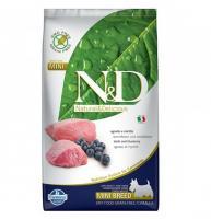 Farmina N&D сухой корм для собак мелких пород беззерновой ягненок с черникой 7 кг