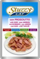 Stuzzy Cat Корм влажный Штуззи кэт паучи для кошек с ветчиной