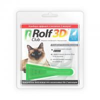 Рольф Клуб 3D Капли от блох и клещей для кошек