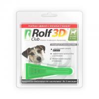 РольфКлуб 3D Капли от блох и клещей для собак от 4 до 10 кг