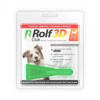 РольфКлуб 3D Капли от блох и клещей для собак от 10 до 20 кг
