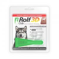 РольфКлуб 3D Капли от блох и клещей для собак от 20 до 40 кг