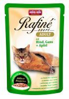 Animonda Rafine Soupe Adult Анимонда Корм влажный Коктейль из говядины, мяса гуся и яблок для взрослых кошек
