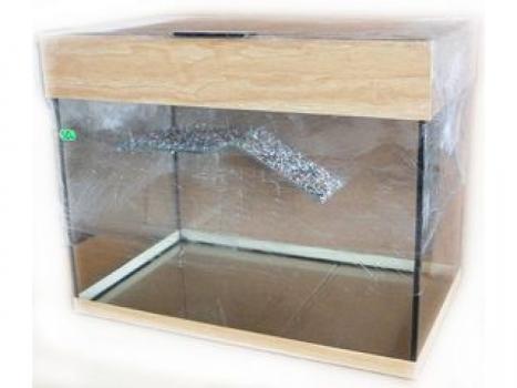 Террариум стеклянный для водных черепах с мостиком и подсветкой