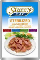 Stuzzy Cat Корм влажный Штузи кэт паучи для стерилизованных кошек с индейкой