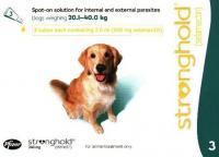 Стронгхолд Stronghold Капли от внутренних и внешних паразитов для собак массой от 20 до 40 кг
