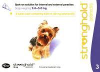 Стронгхолд Stronghold Капли от внутренних и внешних паразитов для собак массой от 2,6 до 5 кг